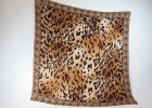 Seidentuch Animal Print braun