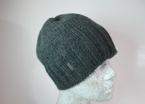 Woll - Beanie mit Fleece in anthrazit