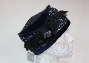 Bohemien Toque in blau