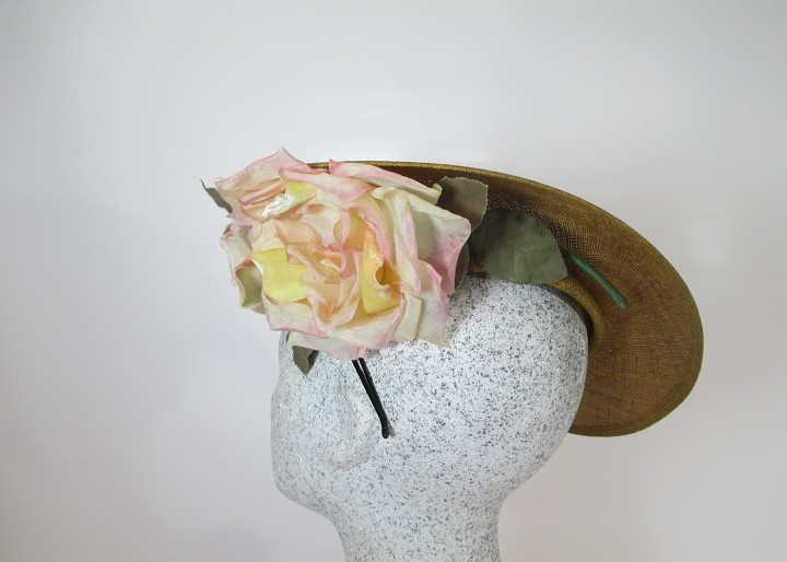 Fascinator curry Exote mit Rosen