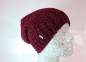 Alpaca Woll Slouch weinrot